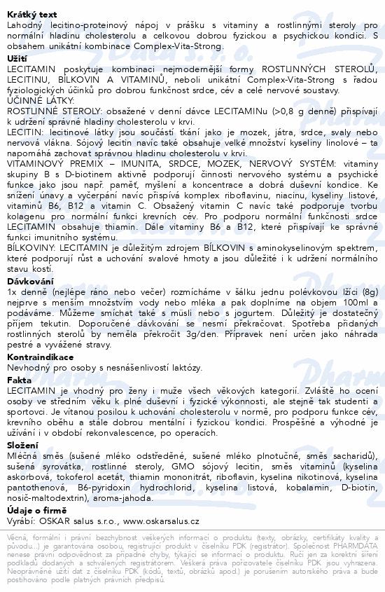 Lecitamin-lecitino-protein.nápoj 250g jahoda