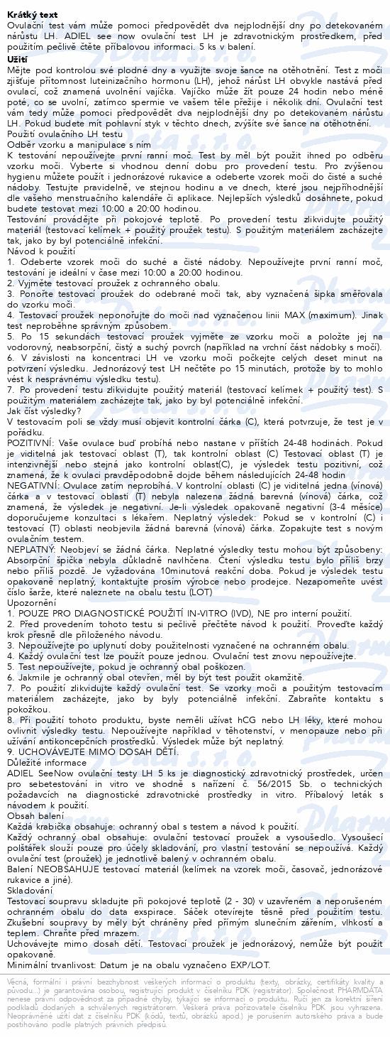 ADIEL SeeNow ovulační testy LH 5ks