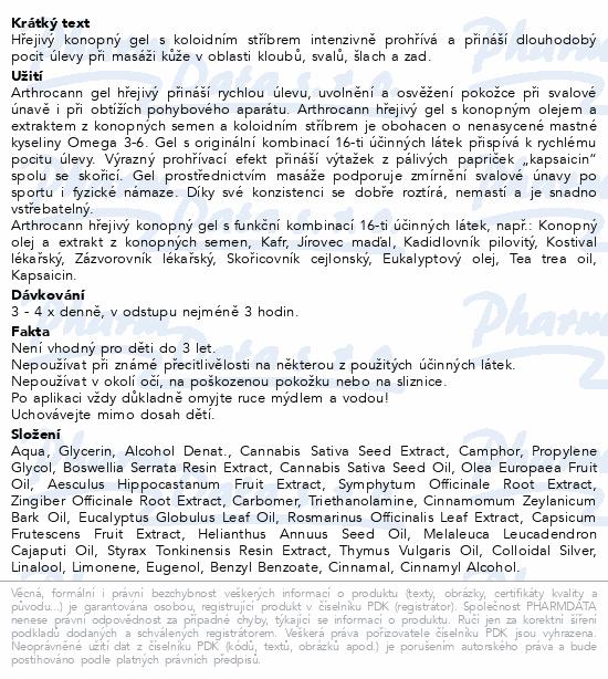 Annabis Arthrocann gel hřejivý klouby svaly 75ml