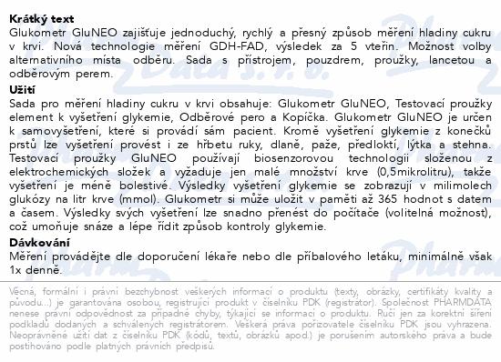 Gukometr Gluneo-pouzd.+přístr.+prouž.+lancety+pero