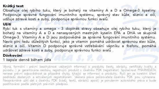 Biotter Rybí tuk s vitamíny a Omega-3 kys. cps.60