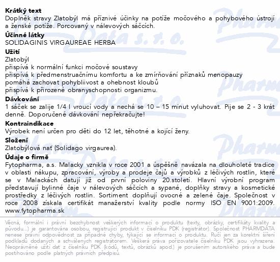 Zlatobýl porcovaný 20x1.5g Fytopharma