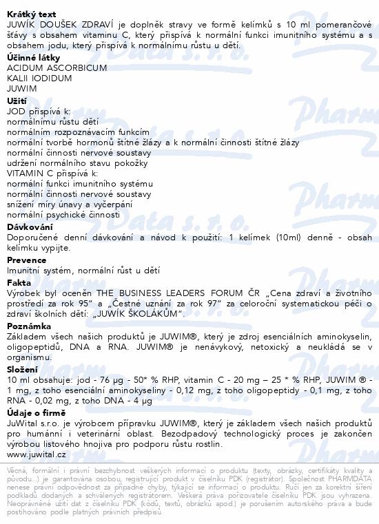 Juwík Doušek zdraví 30 dávek - imunita a růst dětí