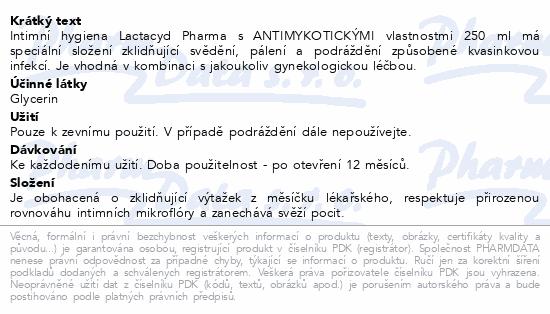 Lactacyd Pharma antimykotický 250ml
