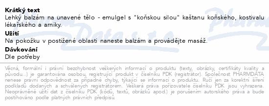 BIONE bylin.balzámArnika/Kaštan koňský 300ml