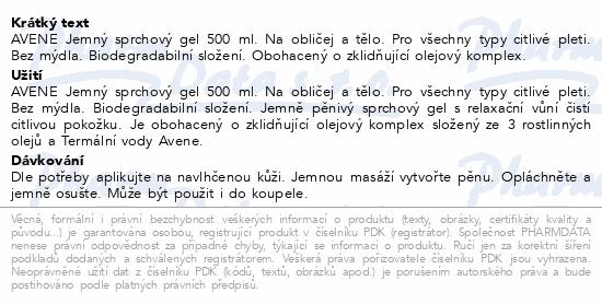 AVENE Body Jemný sprchový gel 500ml
