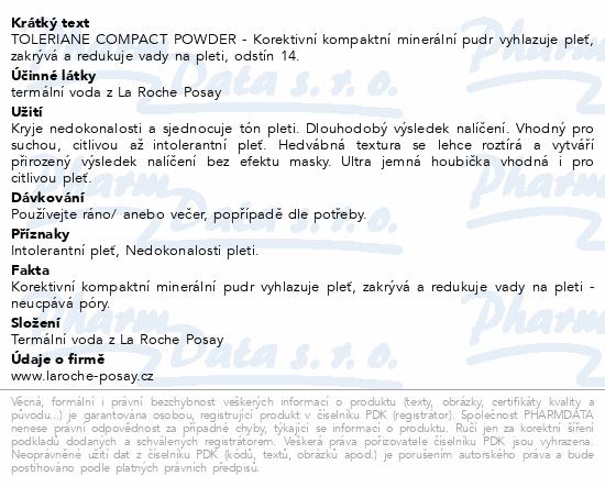 LA ROCHE-POSAY TOLERIANE Kompaktní pudr č.14 9.5g