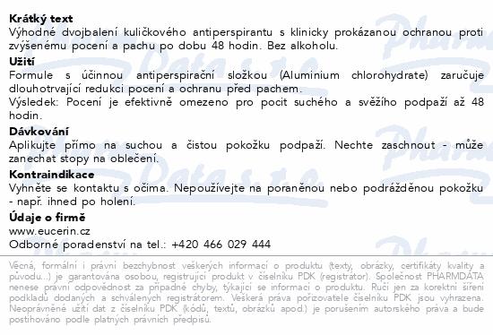EUCERIN DEO Kuličkový AP DUOPACK 2020 2x50ml
