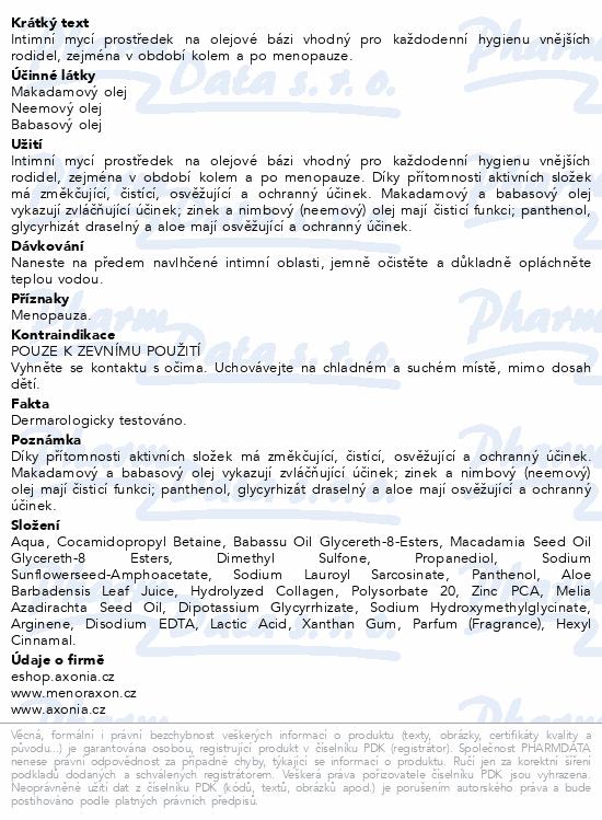 MENORAXON intimní hygiena na olejové bázi 500g