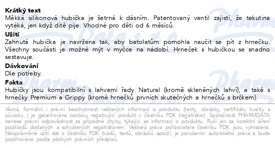 AVENT Hubičky Premium/Grippy silikon 6m+ 2ks