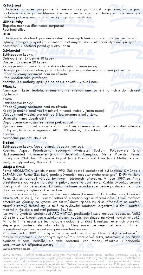 AROMATICA Echinaceové kap.100ml+Kosmín 25ml ZDARMA