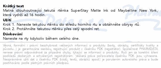 Maybelline SuperStay Matte Ink 15 LOVER 5ml