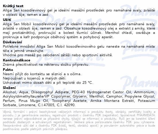 Allga San kosodřevinový gel 100ml