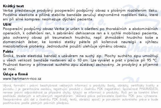 VERBA břišní pás podpůrný vel.1/1ks 65-75cm