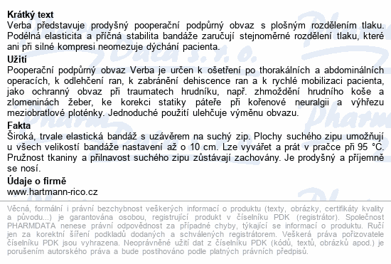 Pás břišní Verba podpůrný vel.5/1ks 105-115cm