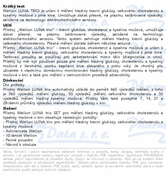 Glukometr Wellion LUNA TRIO set - bílý