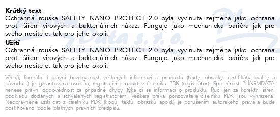 Rouška Safety Nano Protect 2.0 vel. M 3ks