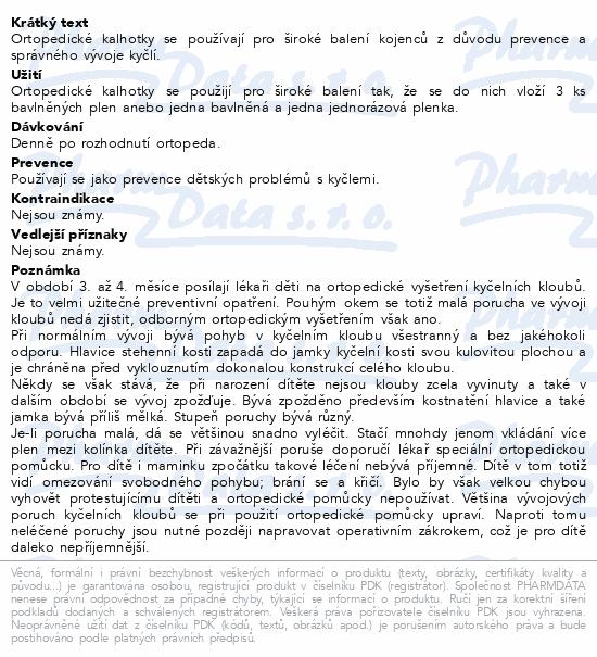 Kalhotky ortopedické kojenecké vel.č.3 suchý zip