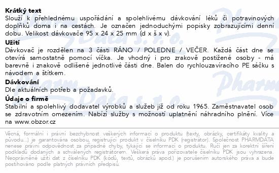 Dávkovač léků OBZOR typ 03 denní