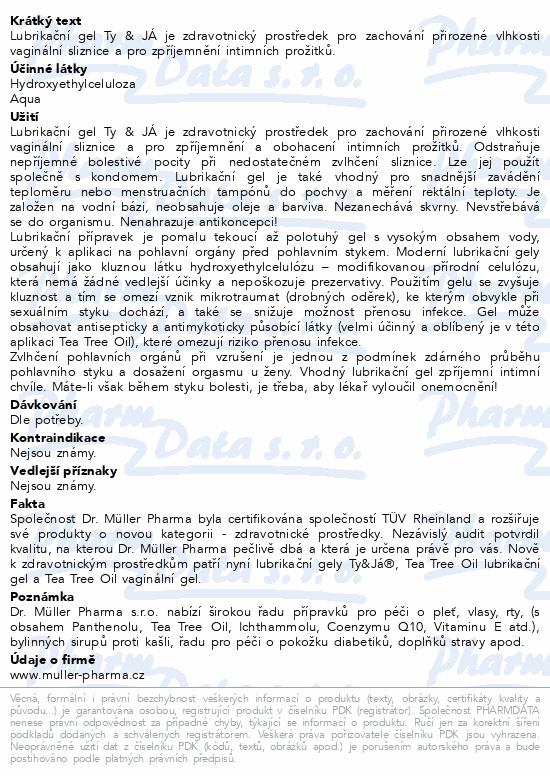 Lubrik.gel Ty&Já parf.vůní jahody 100ml Dr.Müller