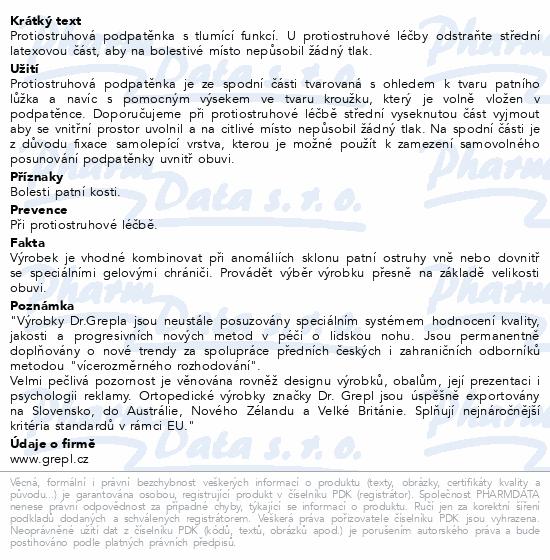 DR.GREPL Podpatěnka na ostruhu vel.42-47