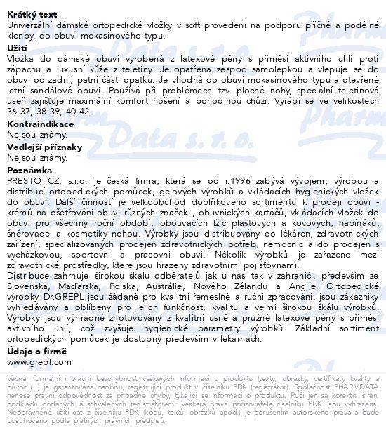 DR.GREPL Ortopedické vložky Sandra vel.38-39 1pár