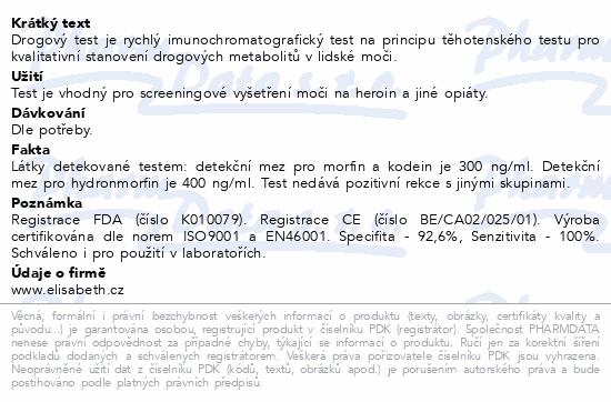 Drogový test MOR Instant-View 1 ks