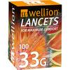 Lancety Wellion 100ks - 33G