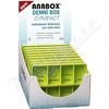 Dávkovač na léky - zelený ANABOX denní box COMPACT