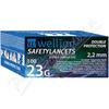 Wellion safety lancets 23G jednoráz.bezp.jeh.100ks