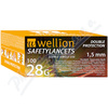 Wellion Safety Lancets jednoráz.bezp.jeh.28G 100ks
