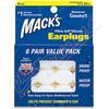 Macks Pillow Soft Silicone špunty do uší 6 párů