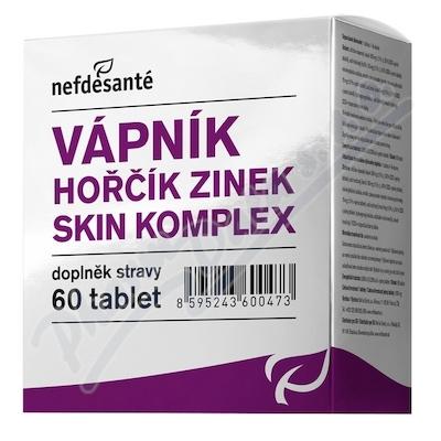 nefdesanté Vápník hořčík zinek skin komplex cps.60