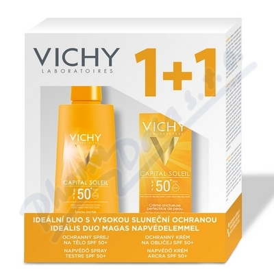 VICHY Ideál Soleil Spray 200ml +Face 50ml SPF 50+