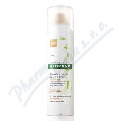 KLORANE Suchý šampon s oves.mlék.150ml-hnědé vlasy