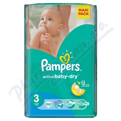 PAMPERS Active Baby VPP 3 Midi 68ks