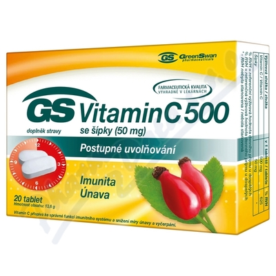 GS Vitamin C500 + šípky tbl. 20