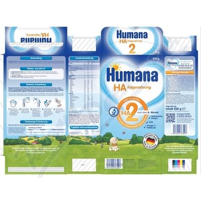 Humana HA2 mléčná koj. výživa od 6.měsíce 500g