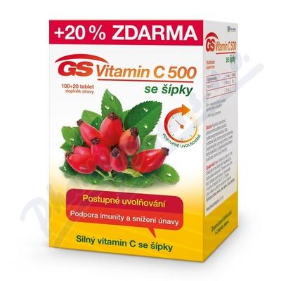 GS Vitamin C500 + šípky tbl.100+20 2016