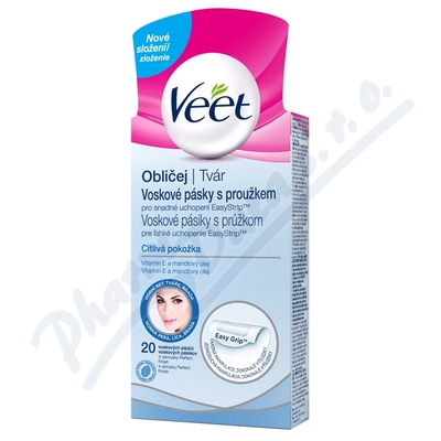 VEET Studené vosk.pásky na obličej citl.pokož.20ks