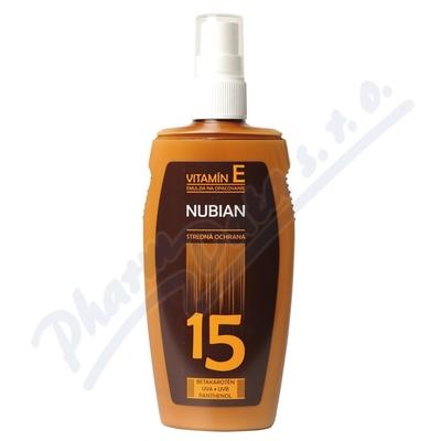 NUBIAN emulze na opalování 150ml OF 15 spray