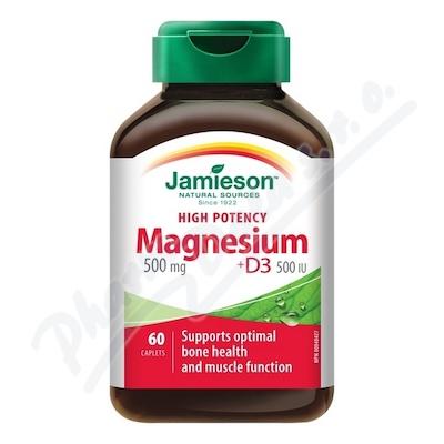 JAMIESON Hořčík 500mg s vitaminem D 500 IU tbl.60