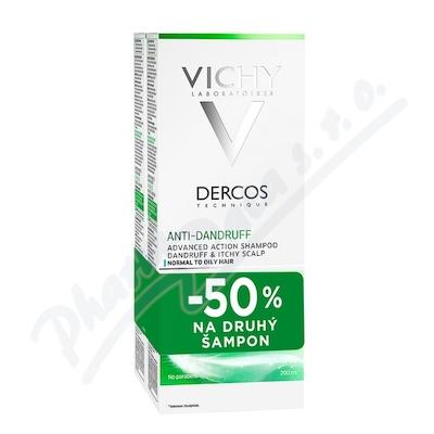 VICHY Dercos šampon lupy mastné DUO 2x200ml