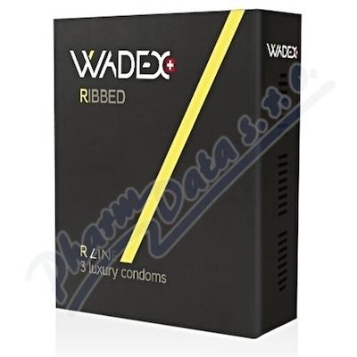 Kondom WADEX Ribbed 3 ks (prezervativ)