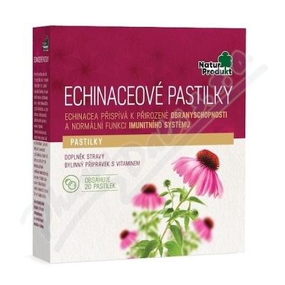 Naturprodukt Echinaceové pastilky 20ks