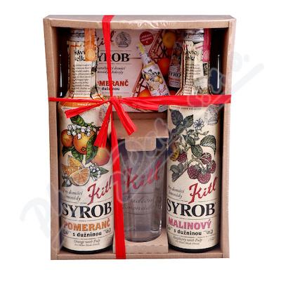 Kitl Syrob Malina+Pomeranč 2x500 ml dárkové balení