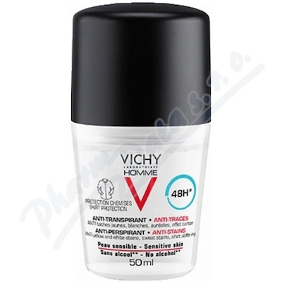 VICHY HOMME Antiperspirant pr.skvrnám roll-on 50ml