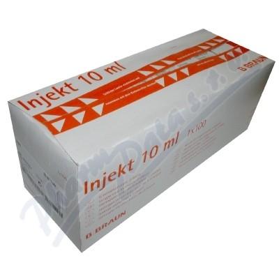 Stříkačka INJEKT 2-dílná 10ml LE oranž.ster.100ks