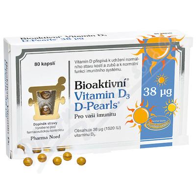 Bioaktivní Vitamin D3 D-Pearls 38mcg cps.80