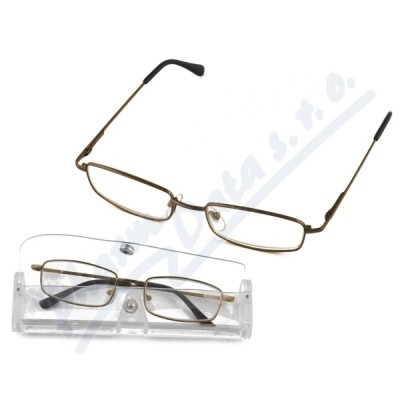 Brýle čtecí American Way +2.00 šedé v etui